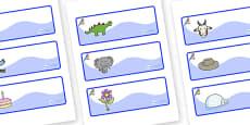 Bluebird Themed Editable Drawer-Peg-Name Labels