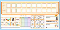 KS3 Visual Timetable Resource Pack