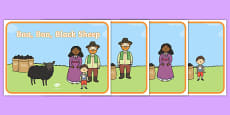 Baa, Baa, Black Sheep Story Sequencing Cards