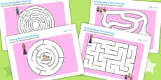 Sleeping Beauty Differentiated Maze Activity Sheet Pack