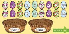 Cartes à trier - Nombres pairs et impairs : Les oeufs de Pâques