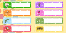 Roald Dahl Themed Gratnells Tray Labels