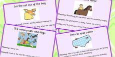 Animal Idioms Meaning Cards