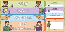 Science WALT WILF TIB WAGOLL Posters and Banners Display Pack