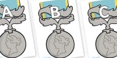 A-Z Alphabet on Medals