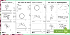Spring Vocabulary Hunt Activity Sheets German