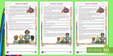 * NEW * Back to School CfE First Level Differentiated Reading Comprehension Activity