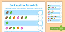 Jack and the Beanstalk Magic Bean Counting Sheet