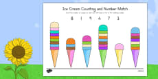 Ice Cream Counting and Number Match