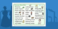 The Victorians Word Mat (Text)