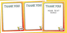 Superhero Themed Birthday Party Thank You Cards