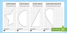 * NEW * 2D Shape Symmetry Drawing Activity Sheets English/Italian