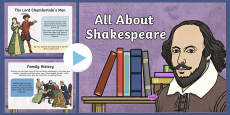 All About William Shakespeare PowerPoint