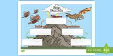 * NEW * Story Mountain Activity Sheet