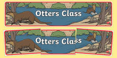 Otter Themed Classroom Display Banner