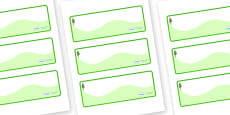 Pine Tree Themed Editable Drawer-Peg-Name Labels (Colourful)