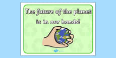 Eco And Recycling The Future of the Planet Display Poster