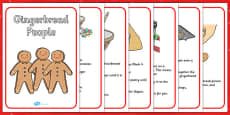 My Gingerbread People Recipe Worksheet