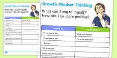 New Zealand Growth Mindset Activity Sheet