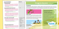 PlanIt - Geography Year 5 - Enough for Everyone Planning Overview