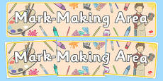 Mark Making Area Display Banner
