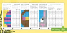 * NEW * Ficha de actividad de atención a la diversidad: Mosaico de multiplicación - Semana Santa