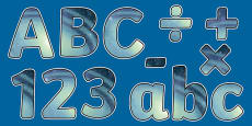 Earth and Space Themed Display Letters and Numbers Pack