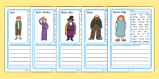 Jack and the Beanstalk Character Description Writing Frames
