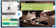 Required Practical Investigation Microscopy Quiz PowerPoint