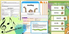 Foundation PE (Reception) - Dance - Dinosaurs Lesson Pack 4: Dinosaur Developed Dances