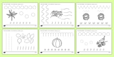 Autumn Themed Pencil Control Activity Sheets