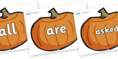 Tricky Words on Pumpkins