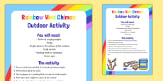 Rainbow Wind Chimes Outdoor Activity