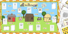 Ready Made Three Little Pigs Display Pack