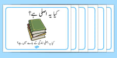 Reading or Book Area Signs Urdu
