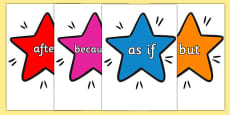 Conjunctions on Stars Multicoloured