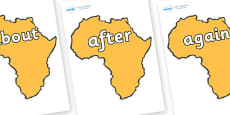 KS1 Keywords on Africa