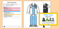 EYFS Uniform Sort Finger Gym Plan and Prompt Card Pack
