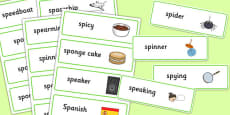 Two Syllable SP Word Cards
