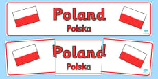 Poland Display Banner Polish Translation