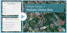 Urban Issues Quiz 3 PowerPoint