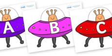 A-Z Alphabet on Spaceships