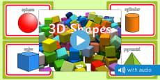 3D Shape Audio Flashcards