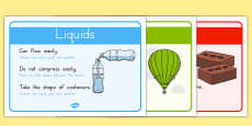Solids Liquids and Gases Posters