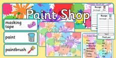 Paint Shop Role Play Pack