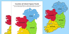 Counties of Ireland Jigsaw Puzzle