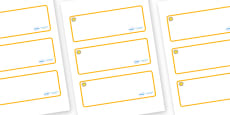 Sunshine Themed Editable Drawer-Peg-Name Labels (Blank)
