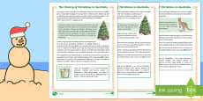 History of Christmas in Australia Differentiated Fact File