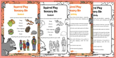 Squirrel Play Sensory Bin and Prompt Card Pack