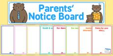 Childminder Parents' Notice Board Pack
